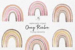 Watercolor orange rainbow Product Image 1