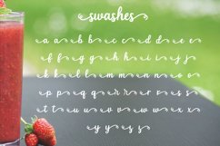 Strawberry Smoothie- A handlettered script font Product Image 5