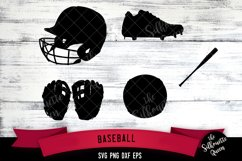 Baseball Equipment svg file, svg cut file, silhouette studio Product Image 1