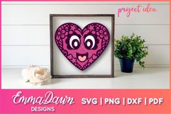 LEXI & LEVI THE LOVE HEARTS SVG 5 MANDALA ZENTANGLE DESIGNS Product Image 5