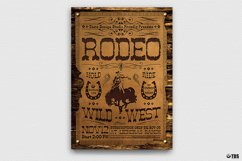 Western Rodeo Flyer Template V2 Product Image 2