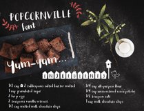 Popcornville font and beach house style - two style fonts Product Image 2