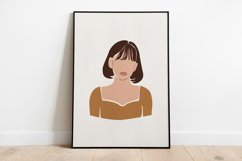 8 Vector Abstract Woman Portraits Product Image 3