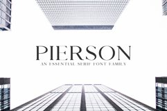 Pierson An Essential Serif Typeface Product Image 1