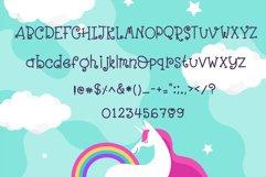 Girly Unicorn font Handwritten- cute kid font Kawaii style Product Image 5