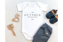 Mockup Bundle Baby Boy Bodysuit White in JPG Product Image 3