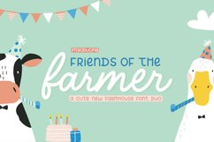 Friends with a Farmers Font Duo Product Image 1