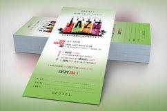 Reggae Jazz Concert Ticket Template Product Image 3