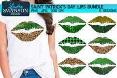 Saint Patrick's Day Lips Bundle PNG Sublimation Product Image 1