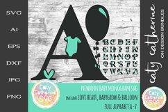 Full Alphabet A-Z Newborn Baby Monogram SVG Cut file Product Image 1