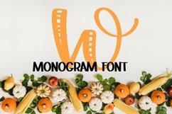 Web Font Monogram Striped Font - A Lovely Monogram Font Product Image 4