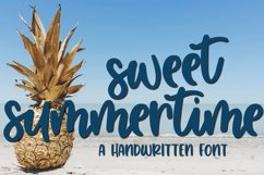 Sweet Summertime - A Hand-Written Script Font Product Image 1