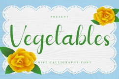 Vegetables - Script Calligraphy Font Product Image 1