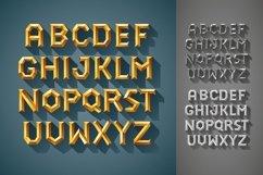 3D Font Set. Gold, wood, silver Product Image 4