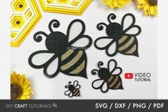 Bee svg, Bumble Bee svg, Honey Bee svg Product Image 1