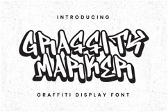 Web Font Graffity Marker Font Product Image 1