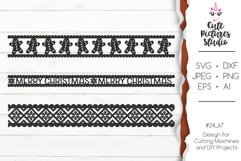 Christmas ornaments Cricut SVG bundle, Christmas ribbon SVG Product Image 1