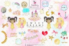 Sweet Dreams Baby Girls Nursery Clip Art Pack xo Product Image 2