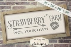 Strawberry Farm - Pick Your Own - Farm Rustic - SVG DXF File Product Image 1