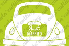 Just married, Just married car, wedding car svg, dxf, png Product Image 2