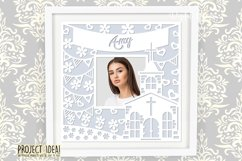 Church frame paper cut design SVG / DXF / EPS / PNG files Product Image 3