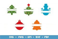 20 Christmas Frames Bundle, Monogram Frames SVG Cut Files Product Image 2