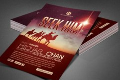 Seek Him Church Flyer Template Product Image 1