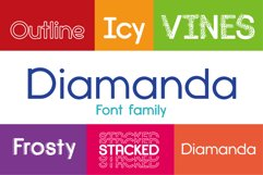 Diamanda Font Family Bundle includes 6 crafting fonts Product Image 1