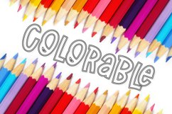 Outlined - A Coloring Book Font Product Image 3