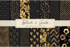 Black and gold foil backgrounds Product Image 1