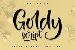 Goldy | Brush Handwriting Font Product Image 1