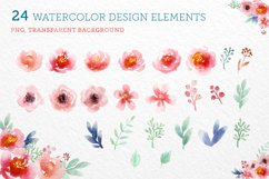 Watercolor Floral Elements Product Image 1
