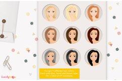 Book club girl clipart, teacher, student, Myrtle LVA11 Product Image 4