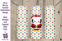 Christmas Penguin 20 oz skinny Tumbler Sublimation File Product Image 1
