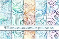 Vibrant waves seamless patterns set Product Image 1