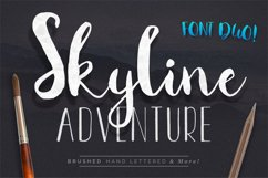Font Duo Skyline Adventure Product Image 1