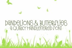 Web Font Dandelions And Butterflies - A Quirky Handlettered Product Image 1