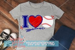 I Love Baseball SVG, DXF, EPS, PNG Files Product Image 1