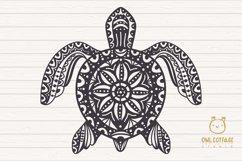 Turtle Mandala Svg Cut File, Turtle Svg, SeaTattoo Design Product Image 2
