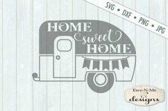 Home Sweet Home Camper Trailer SVG DXF File Product Image 2