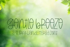 Web Font Gentle Breeze - A Quirky Hand-Lettered Font Product Image 1