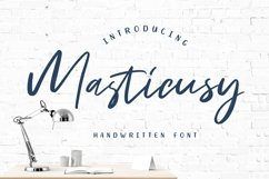 Masticusy Handwritten Font Product Image 1