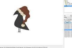 Crow with Santa Hat - Machine Embroidery Design - 2 sizes Product Image 3