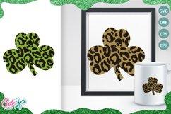 Leopard clover, St Patricks day svg cut files Product Image 1