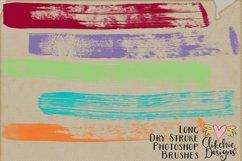 Long Dry Paint Stroke Photoshop Brushes Product Image 4