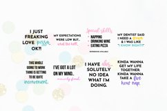 Funny Quote SVG Bundle Volume 1 - Colorful Version Product Image 4