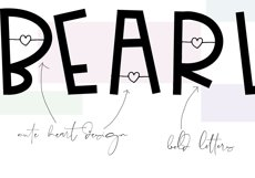 Bearly - Handwritten Font with Hearts Product Image 5