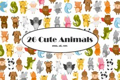 Cute baby animals safari. Sublimation animals. Animal png Product Image 1
