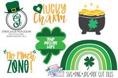 St. Patrick's Day Shamrock SVG Cut File Cricut & Silhouette Product Image 1