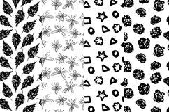 37 monochrome patterns. Hand drawn seamless backgrounds. Product Image 3